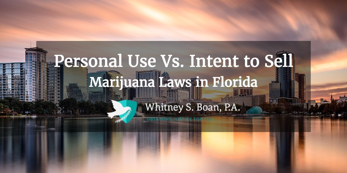 Personal Use vs. Intent to Sell – Marijuana Laws in Florida